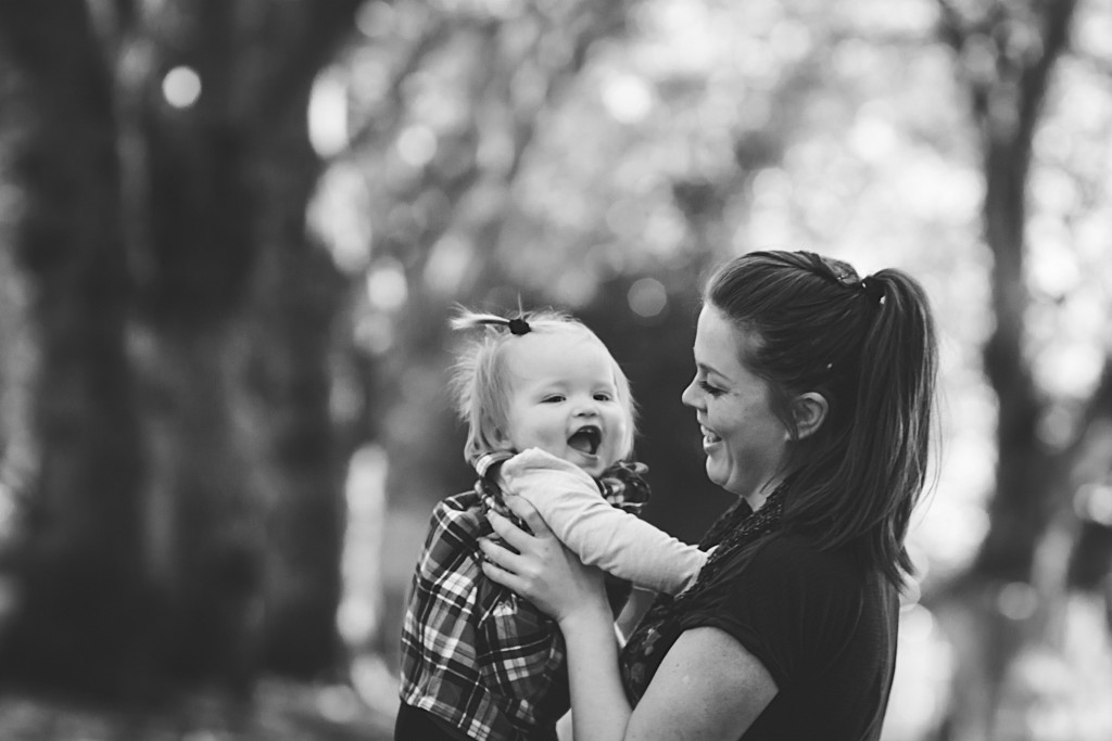 Mother baby laughing