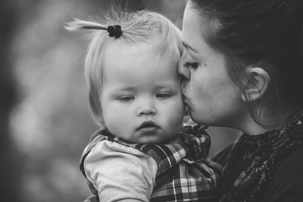 Mother Baby Kiss