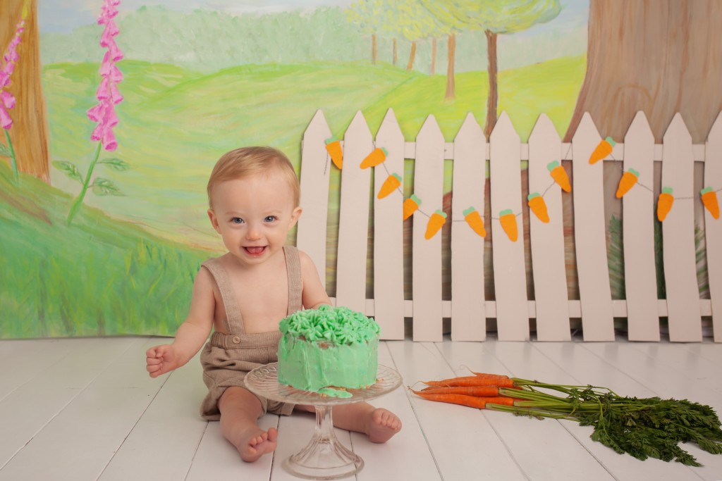 Peter Rabbit Cake Smash Photography