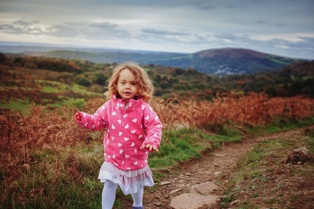 Outdoor family portraits Caerphilly Mountain