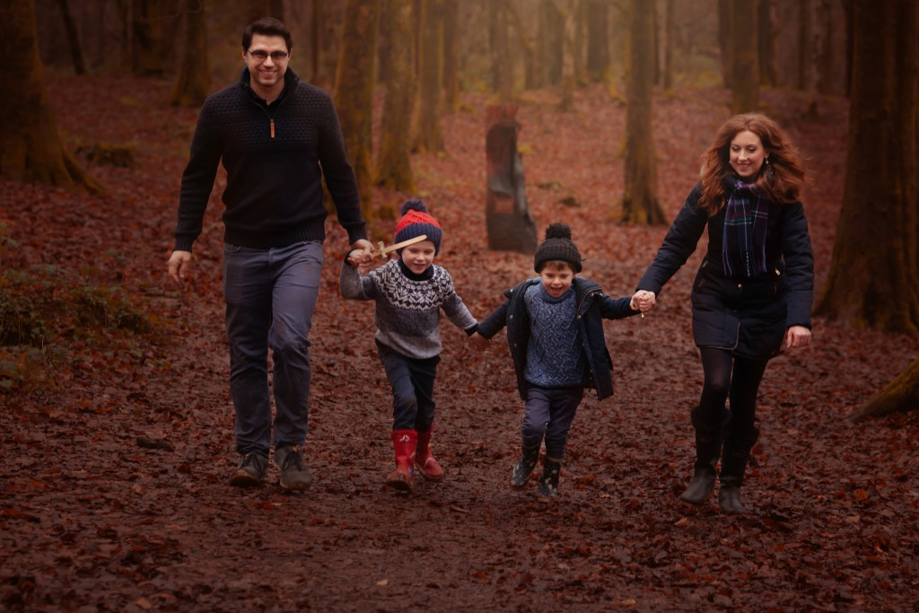 Forest family photoshoot in Cardiff