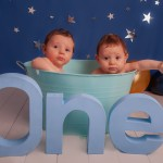 Cake Smash Photographer Pontypridd – Twins Twinkly Cake Smash